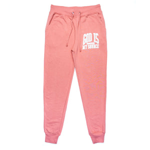God Is My Source 'Campus' Joggers Coral / White - Sweatshirt God Is My Source