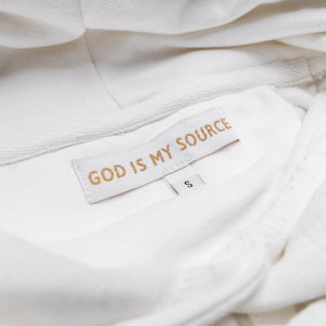 God Is My Source 'Campus' Hoodie White / White - Sweatshirt God Is My Source