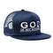 "God Is My Source ""Line Logo"" Trucker Hat Navy/White - hat God Is My Source"