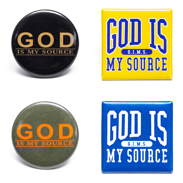 God Is My Source 4 Button Pack - Accessories God Is My Source