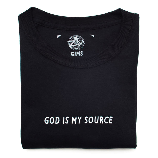 God Is My Source T-Shirt Black/White
