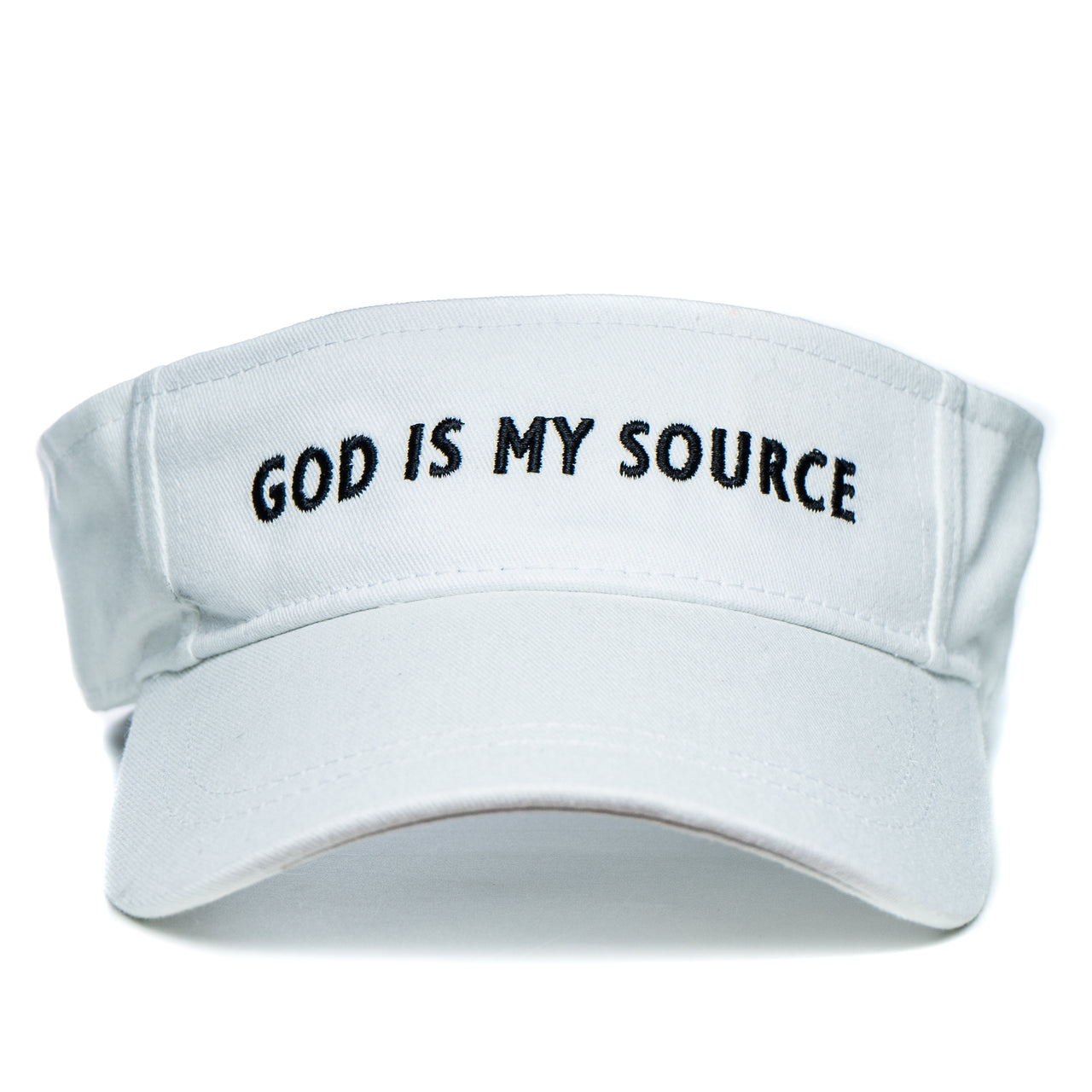 God Is My Source Visor White/Black - Visor God Is My Source