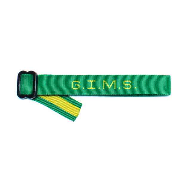 God Is My Source G.I.M.S. Bracelet Kelly Green/Gold