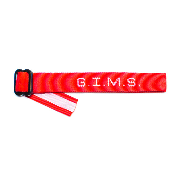 God Is My Source G.I.M.S. Bracelet Red/White - Accessories ManiaManiaMania