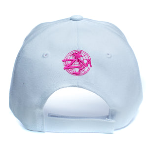 "God Is My Source ""Line Logo"" Hat White / Pink - hat God Is My Source"