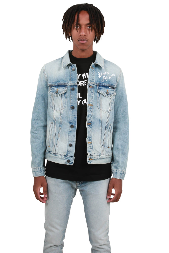 Sacred Heart Denim Jacket - Medium Wash