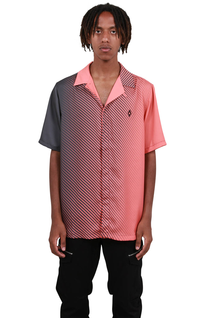 Gradient Hawaii Shirt - Dark Grey