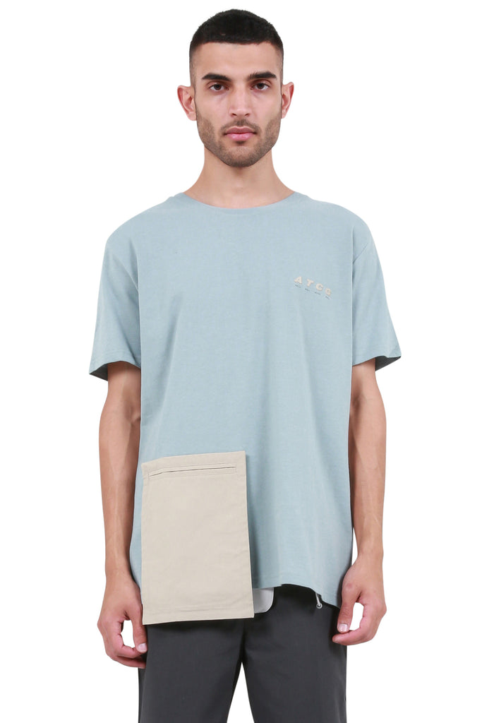 C2H4: Component Pocket T-Shirt - Starlight Blue | LESSONS