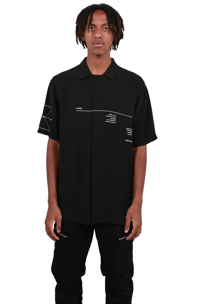 All Over Abstract Shirt - Black