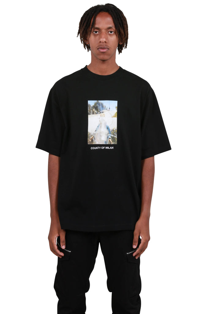 Holy Square Over T-Shirt - Black
