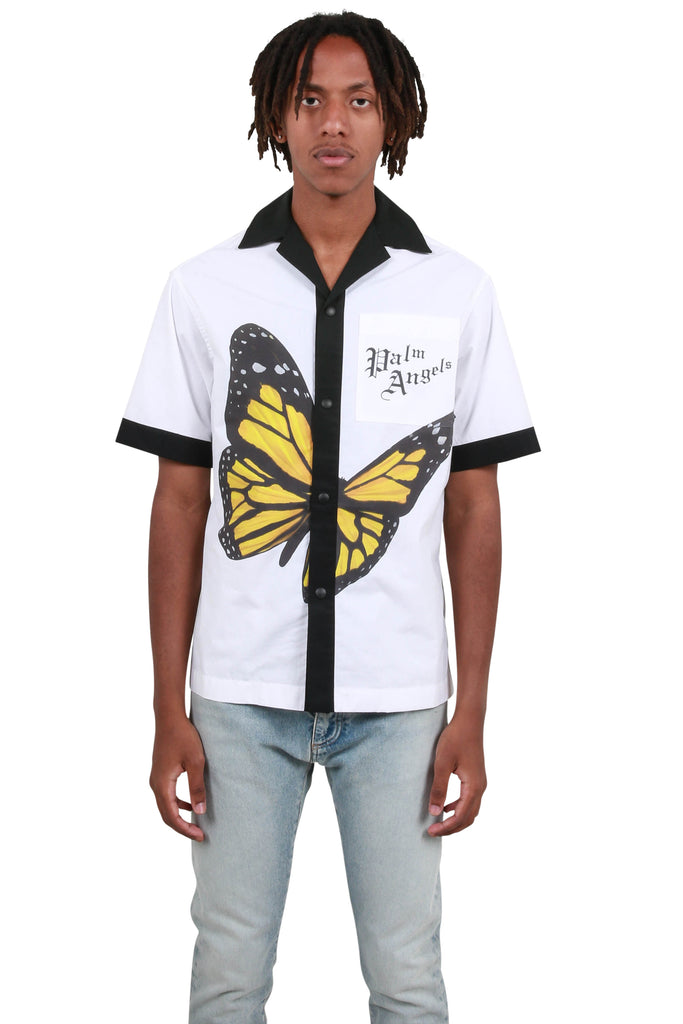 Butterfly Bowling Shirt - White