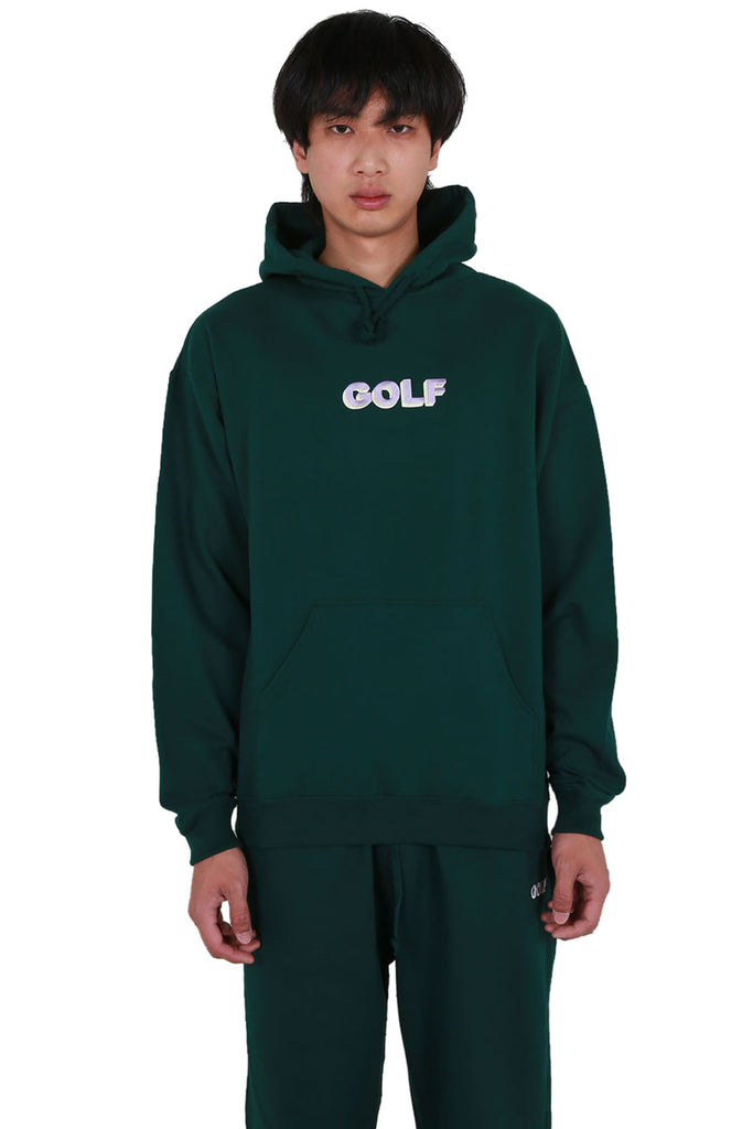Golf 3D 2 Tone Logo Hoodie - Forrest Green