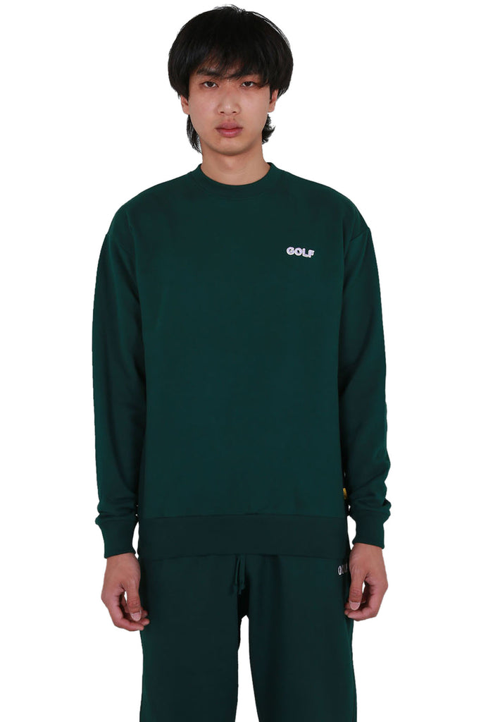 Golf Mini 3D 2 Tone Logo Crewneck - Forest