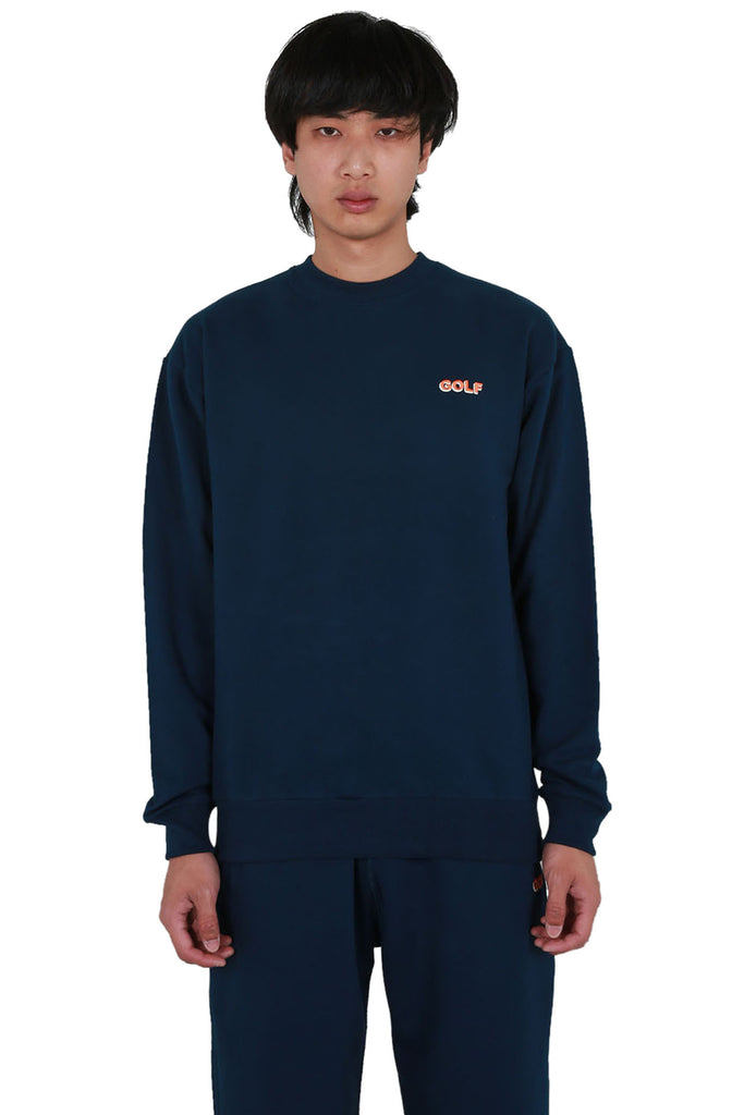 Golf Mini 3D 2 Tone Logo Crewneck - Navy
