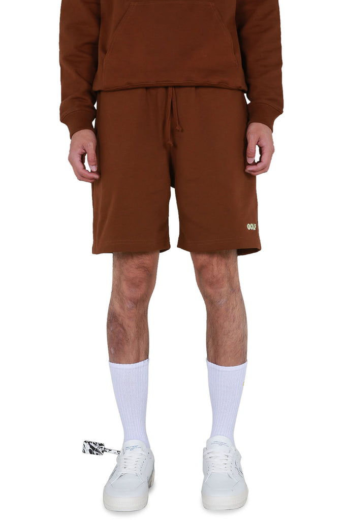 Golf 3D 2 Tone Logo Sweatshorts - Brown