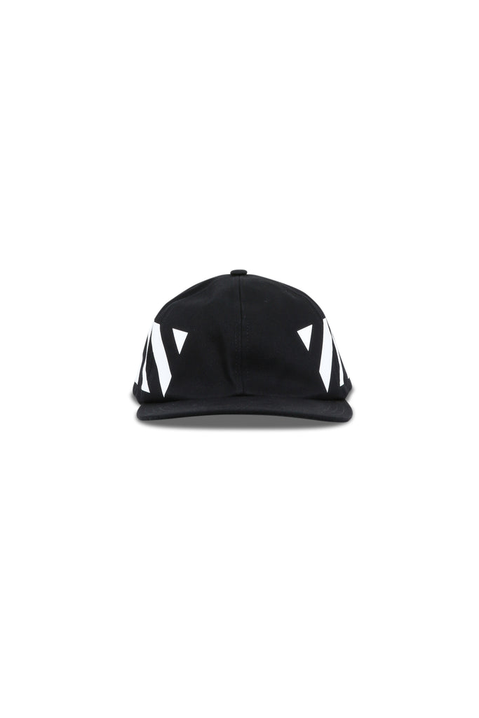 OFF-WHITE: Diagonal Baseball Cap - Black/White | LESSONS
