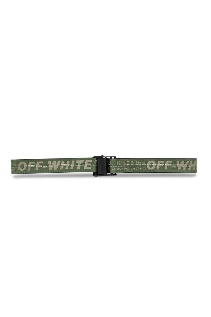 OFF-WHITE: Industrial Belt - Military Green | LESSONS