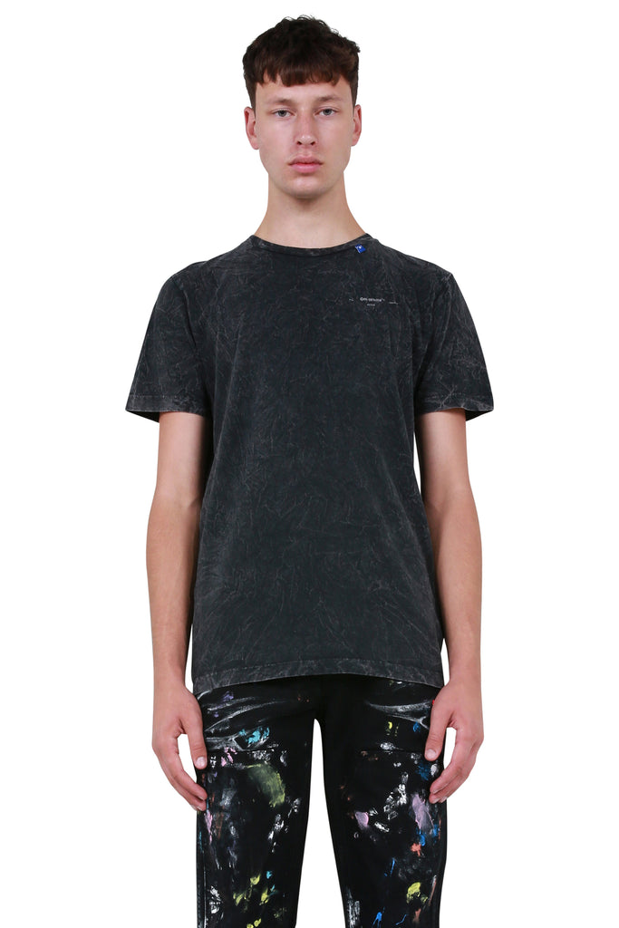 Marble S/S Slim Tee - Anthracite White