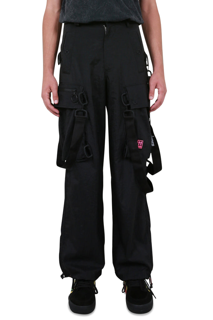 OFF-WHITE: Bondage Cargo Pant - Black/White | LESSONS