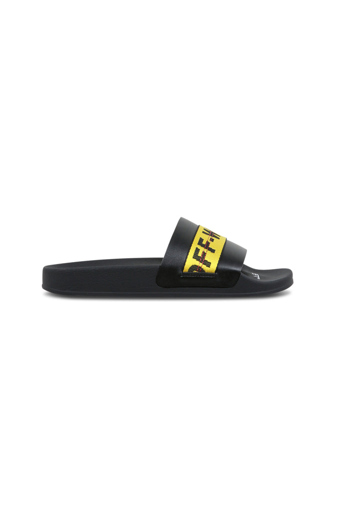 OFF-WHITE: Industrial Slides - Black/Yellow | LESSONS