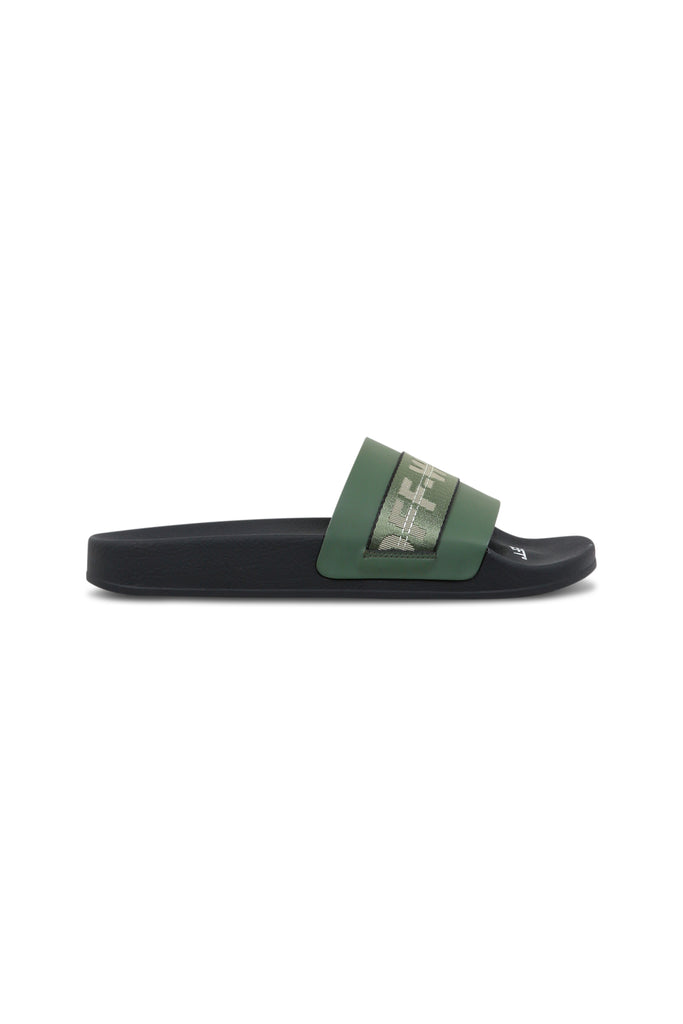 OFF-WHITE: Industrial Slides - Military Green | LESSONS