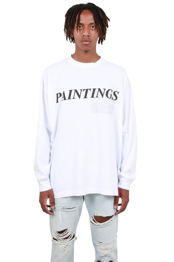 Paintings Long Sleeve T-Shirt - White