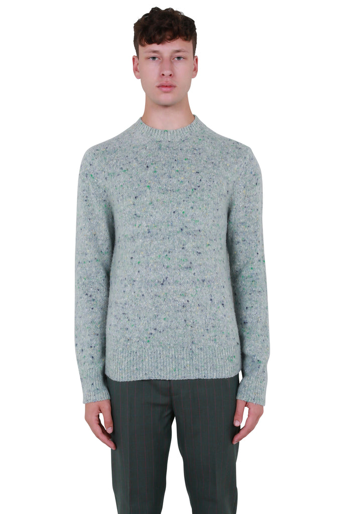 Pilled Melange Sweater - Pastel Green