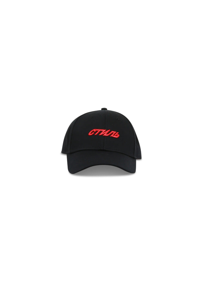 HERON PRESTON: CTNMB Embroidered Baseball Cap - Black/Red | LESSONS