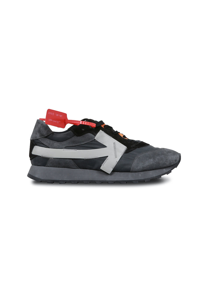 OFF-WHITE: Arrow Running Sneakers - Dark Grey Wash | LESSONS
