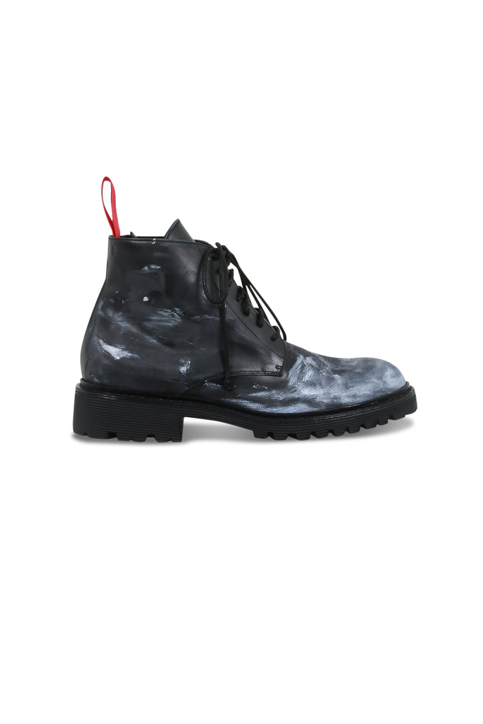 424: High Top Distressed Boot - Black | LESSONS