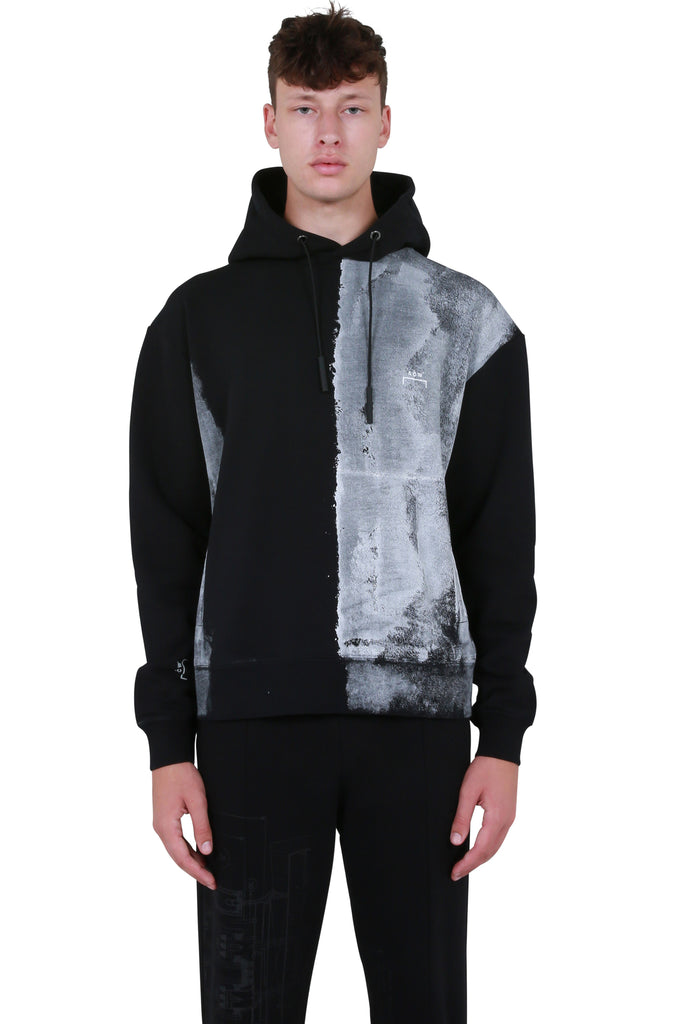 Block Painted Hoodie - Black