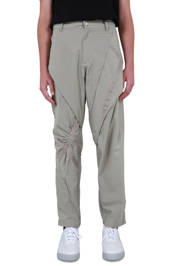Cross Tape Trousers - Grey Violet