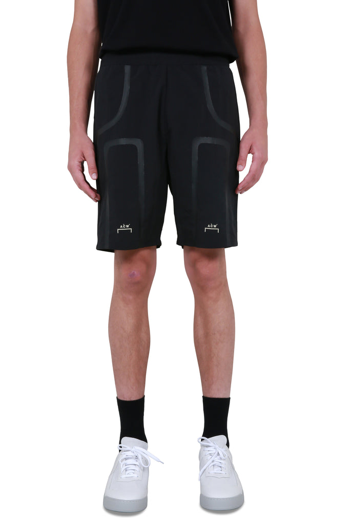 Bracket Taped Track Shorts - Black