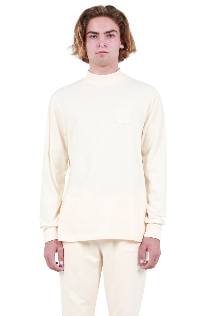 Mockneck Dimebag Long Sleeve T-Shirt - Custard