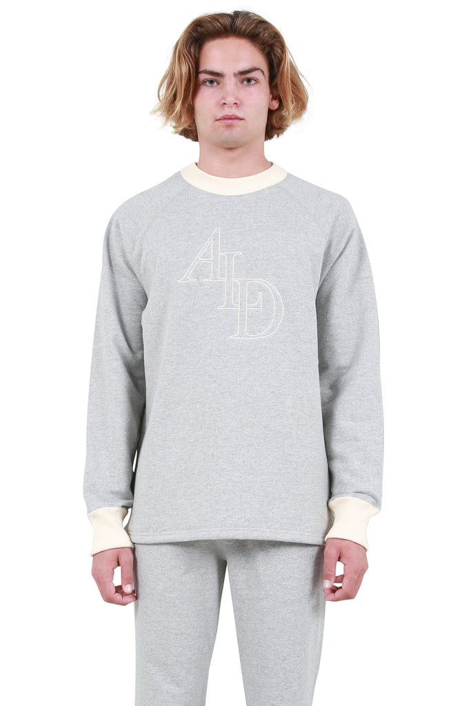 Large Monogram Pullover - Heather Grey