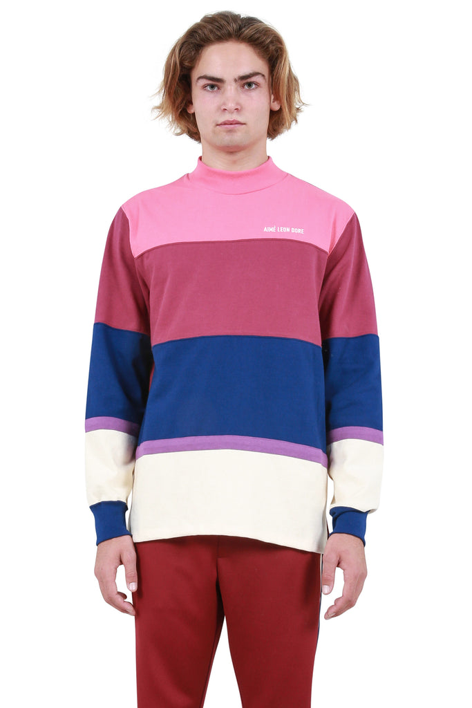 Striped Mockneck - Purple Tape Combo