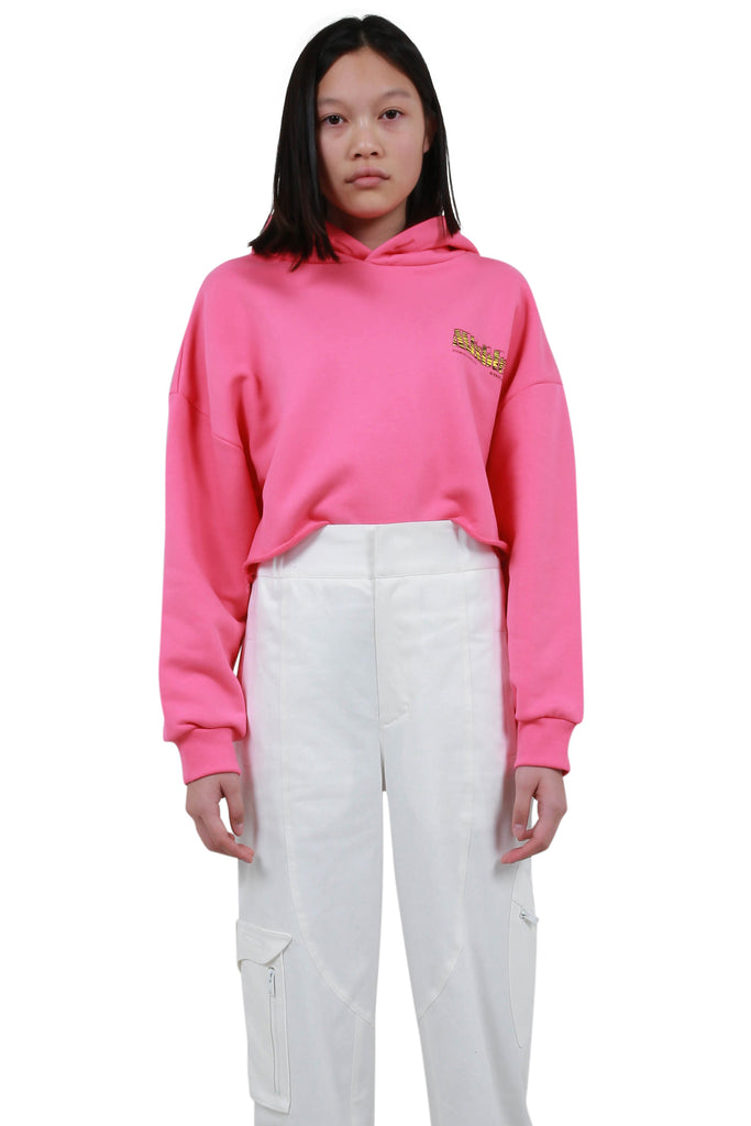 The MBH Hotel & Spa Cropped Hoodie - Pink