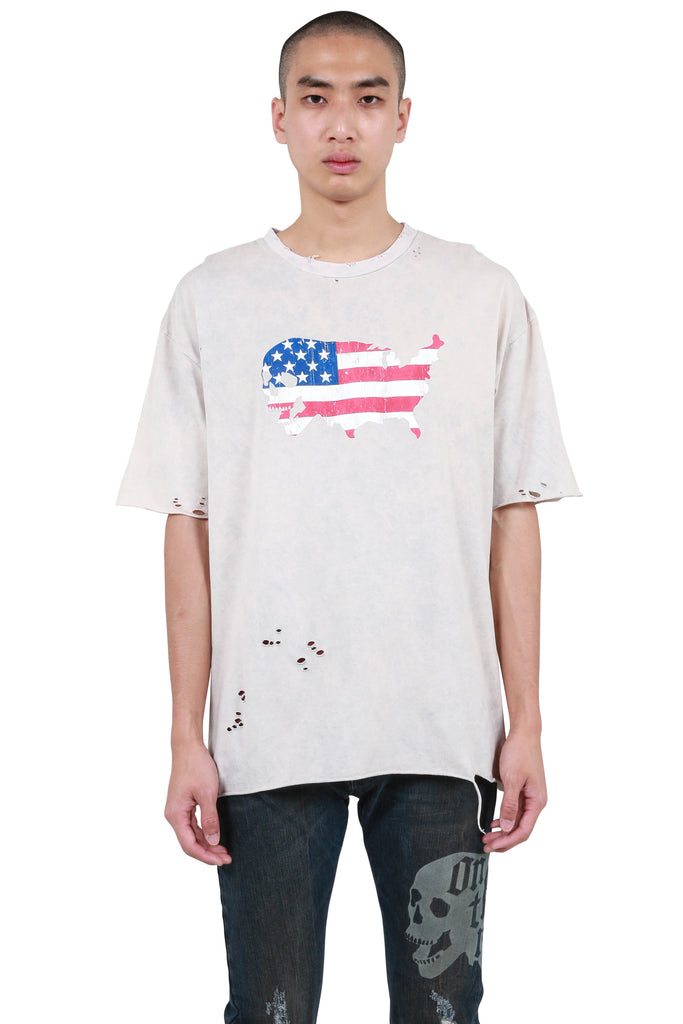 USA Born T-shirt - Cream