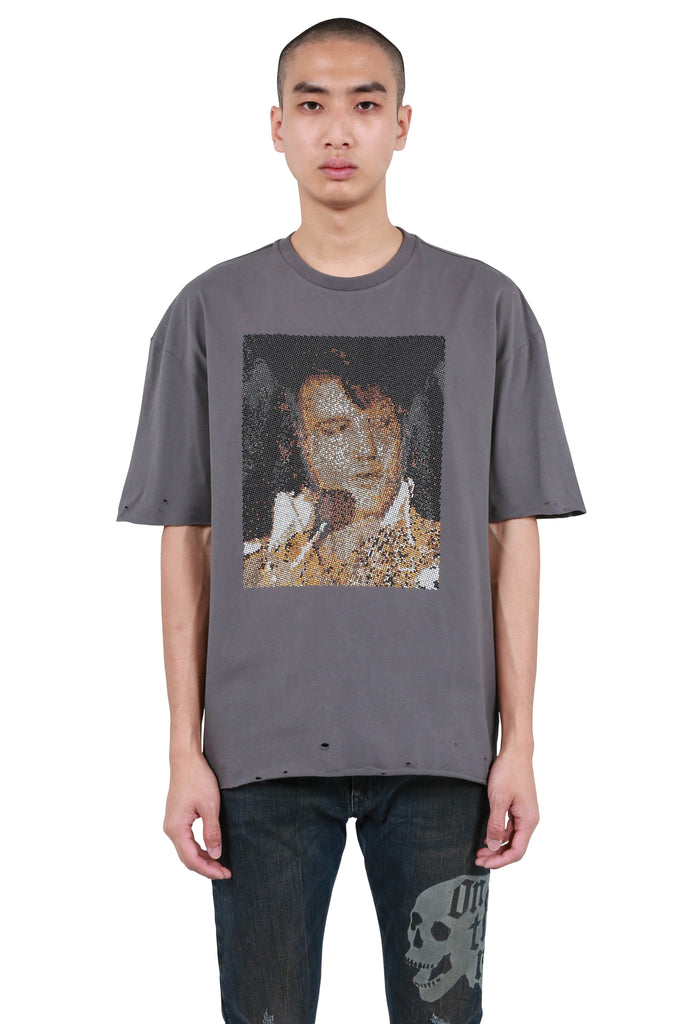 Elvis Portrait T-shirt - Faded Black