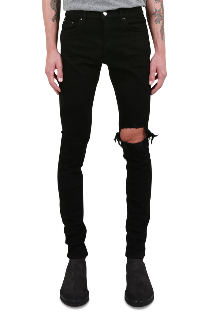 AMIRI: Broken Jeans - Black | LESSONS