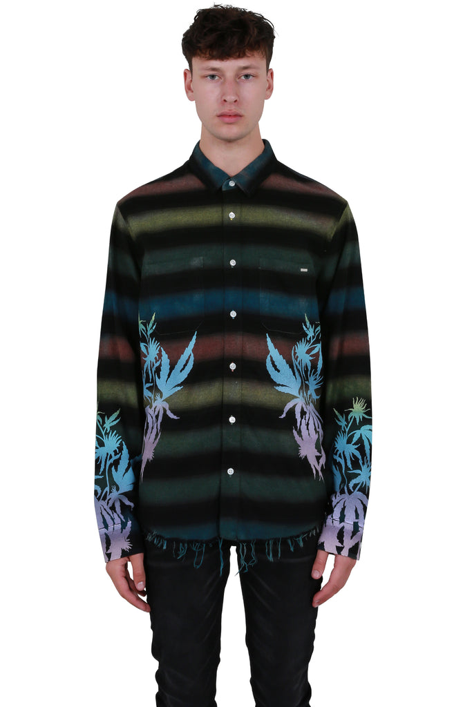 AMIRI Printed Leaves Flannel
