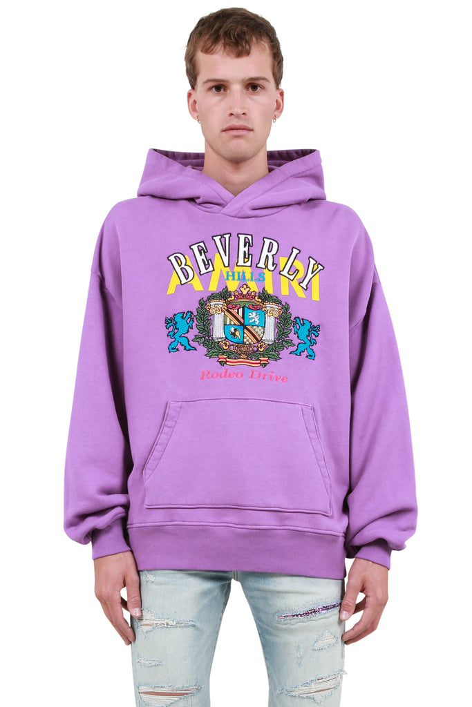 AMIRI: Beverly Hills Oversized Hoodie - Purple | LESSONS