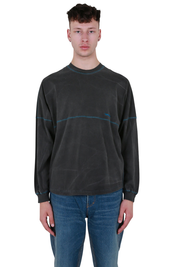 Pigment Dye Football Long Sleeve - Black
