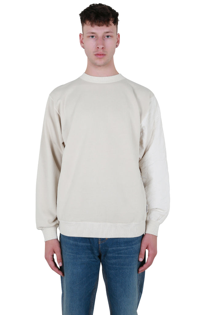 Mix Quilted Sweatshirt - Off White
