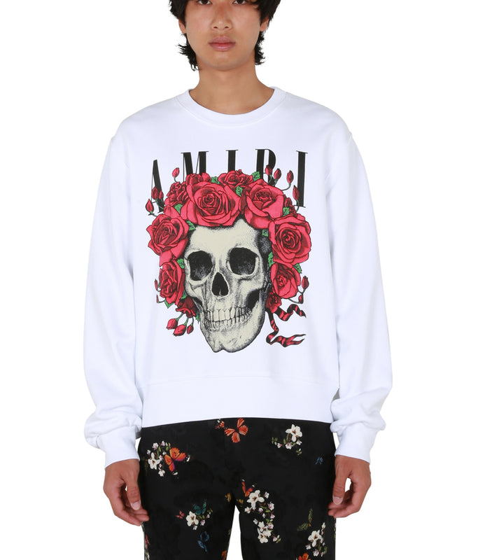 Grateful Dead Skull Crewneck - White