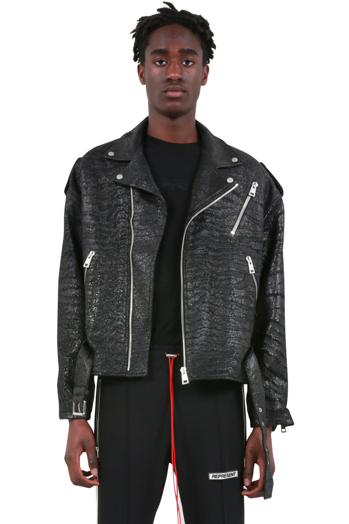 Biker Jacket - Cracked Leather