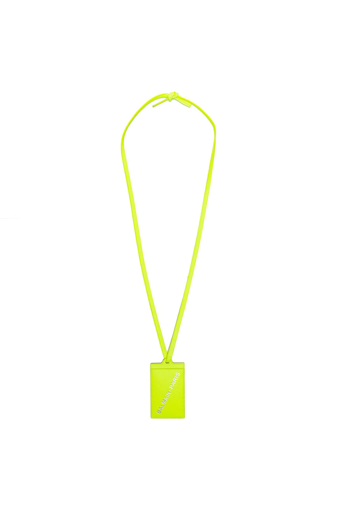 Lambskin Card Holder - Fluoro Green