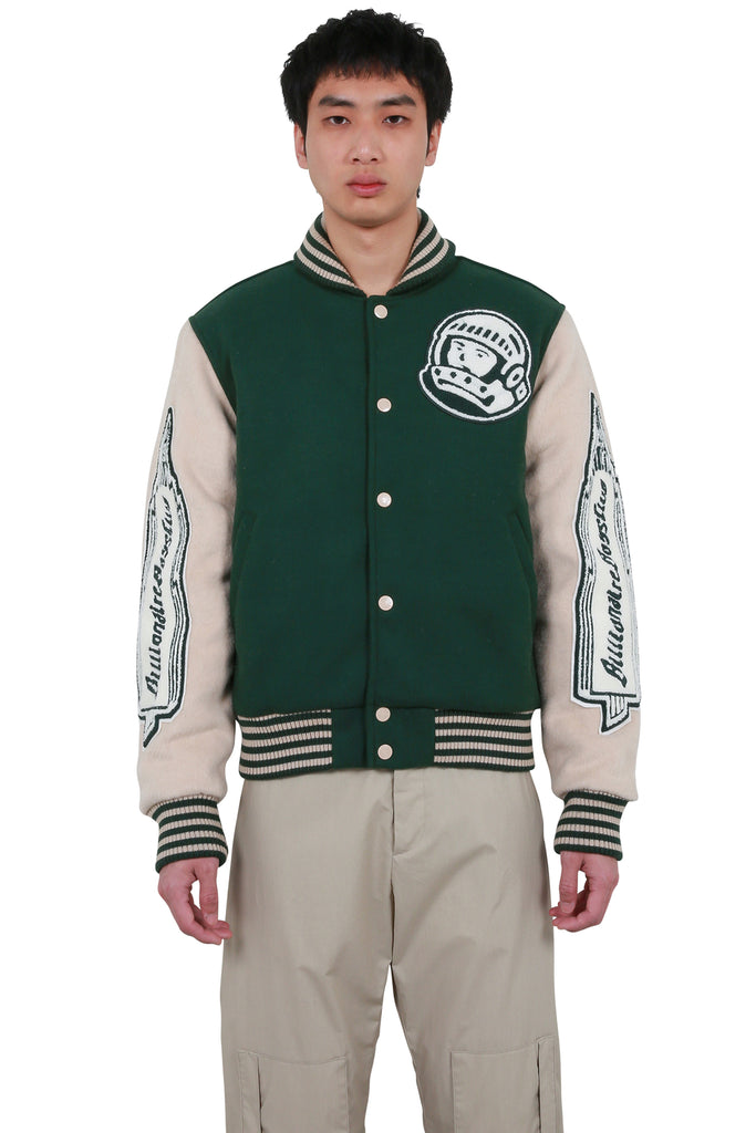 Astro Varsity Jacket - Dark Green/Off-White