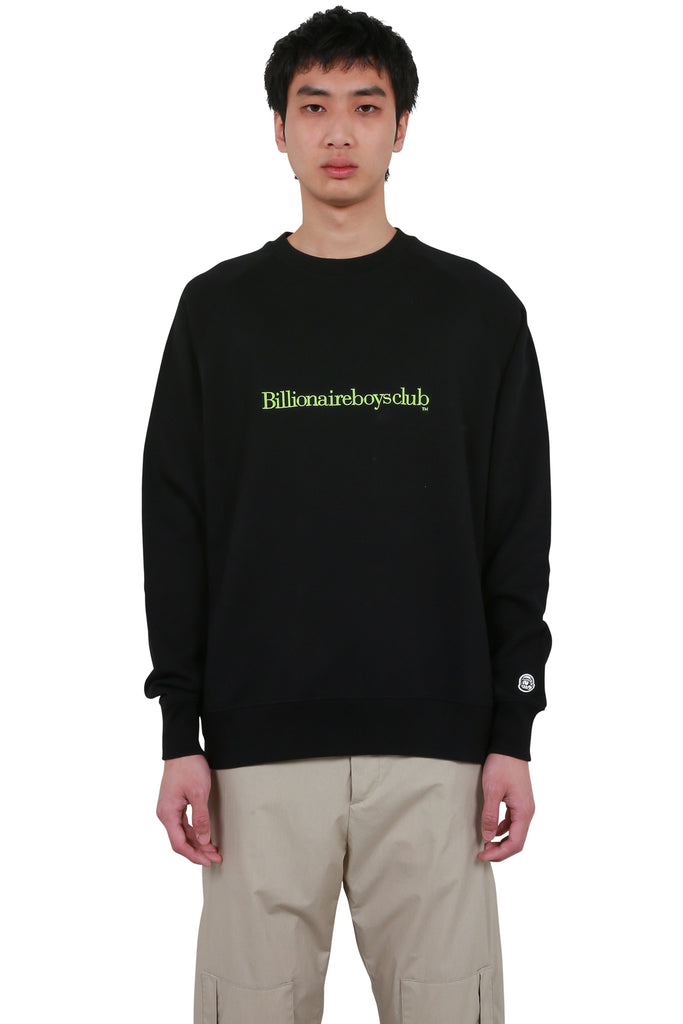 Embroidered Logo Crewneck - Black