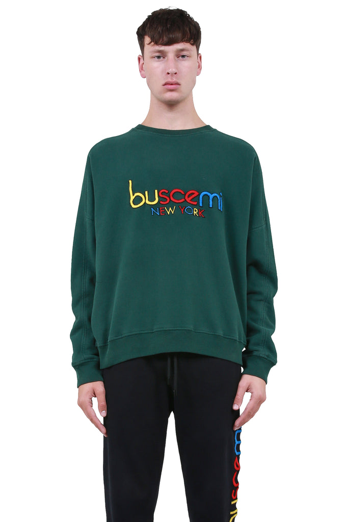 BUSCEMI: BUSCEMI Logo Sweater - Green | LESSONS